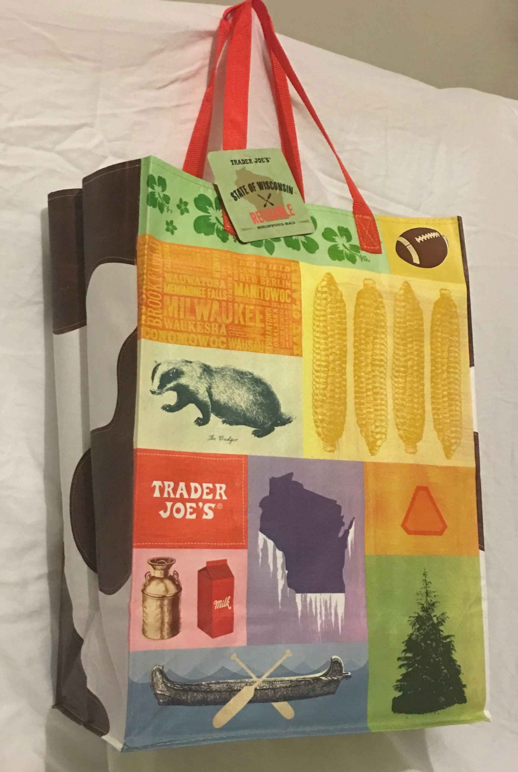 Trader Joe S Reusable Grocery Tote Bag From Wisconsin