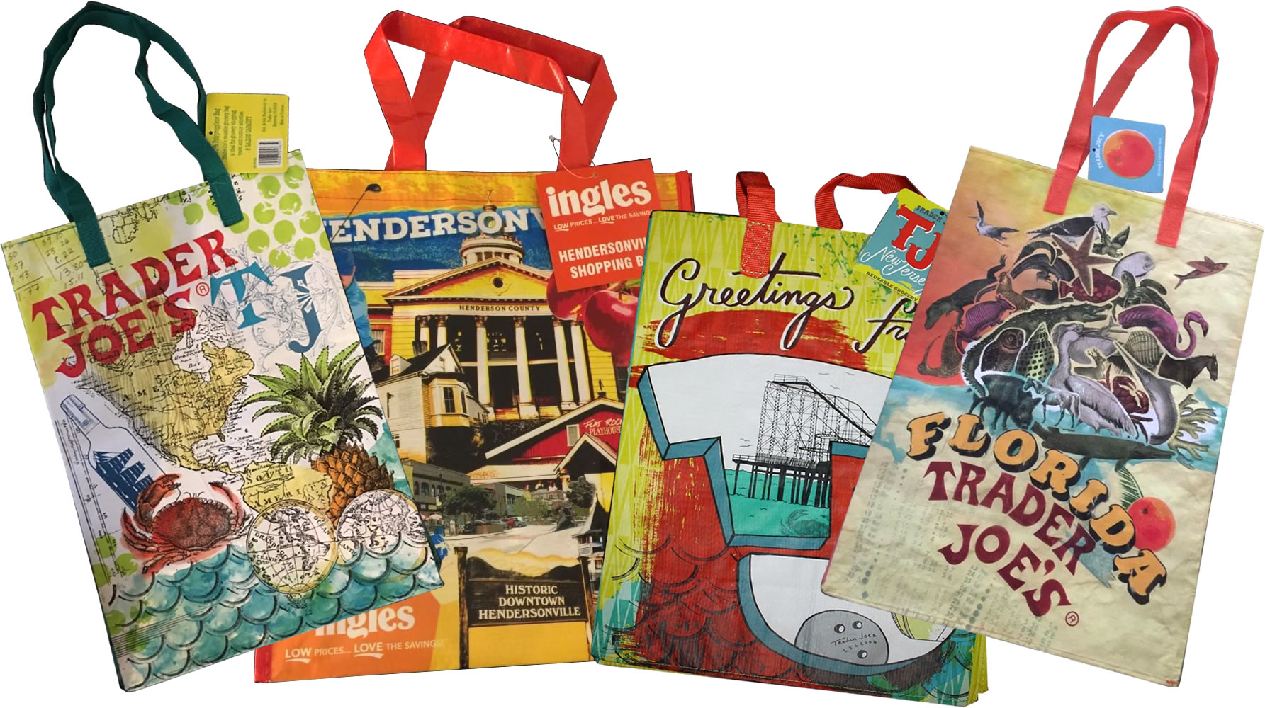 Paper or Plastic? California law now forces customers to pay for throw away shopping bags.