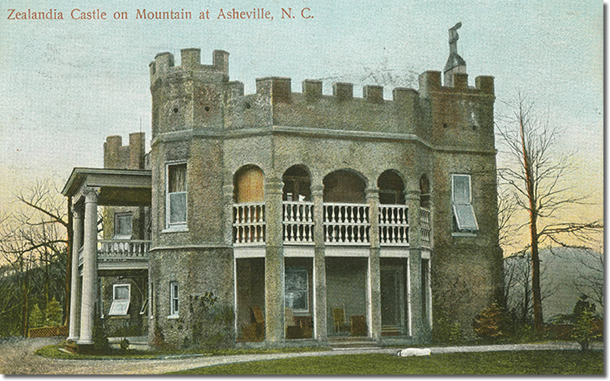 Zealandia Castle on Mountain at Asheville, N.C.